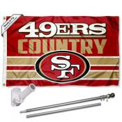 San Francisco 49ers Country Slogan Flag Pole and Bracket Kit