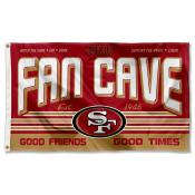 San Francisco 49ers Fan Cave Flag Large Banner