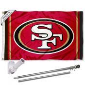 San Francisco 49ers Flag Pole and Bracket Kit