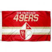 San Francisco 49ers Throwback Retro Vintage Logo Flag