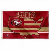 San Francisco 49ers USA Country Flag