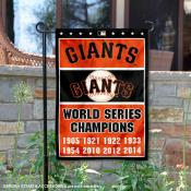 San Francisco Giants 8-Time World Series Champions Garden Flag