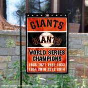 San Francisco Giants 8-Time World Series Champions Garden Flag