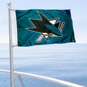San Jose Sharks Boat and Nautical Flag