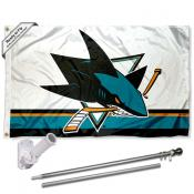 San Jose Sharks Flag Pole and Bracket Kit