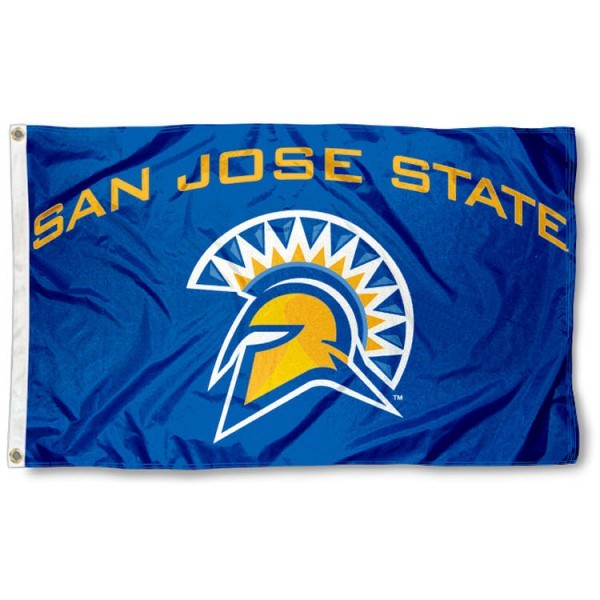 San Jose State University 3x5 Flag is made of 100% nylon, offers quad stitched flyends, measures 3x5 feet, has two metal grommets, and is viewable from both side with the opposite side being a reverse image. Our San Jose State University 3x5 Flag is officially licensed by the selected college and NCAA.