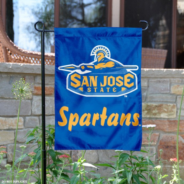 San Jose State University Garden Flag is 13x18 inches in size, is made of 2-layer polyester, screen printed San Jose State University athletic logos and lettering. Available with Same Day Express Shipping, Our San Jose State University Garden Flag is officially licensed and approved by San Jose State University and the NCAA.