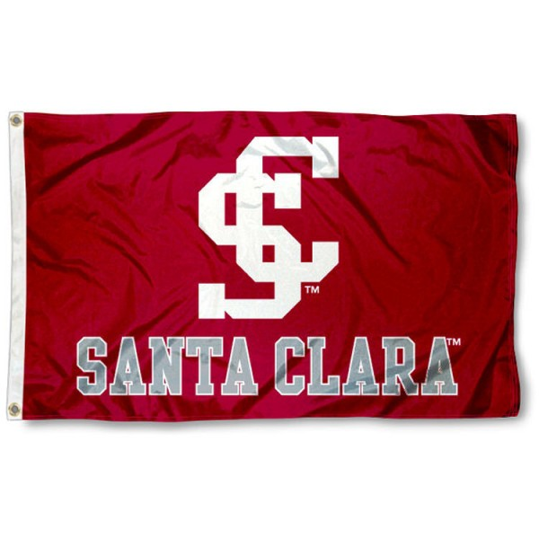 Santa Clara Broncos Flag is made of 100% nylon, offers quad stitched flyends, measures 3x5 feet, has two metal grommets, and is viewable from both side with the opposite side being a reverse image. Our Santa Clara Broncos Flag is officially licensed by the selected college and NCAA