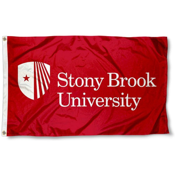 SBU Seawolves Flag measures 3x5 feet, is made of 100% polyester, offers quadruple stitched flyends, has two metal grommets, and offers screen printed NCAA team logos and insignias. Our SBU Seawolves Flag is officially licensed by the selected university and NCAA.