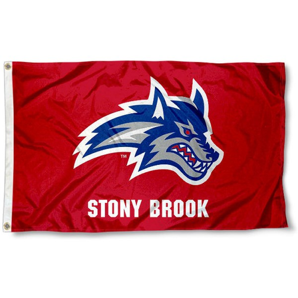 SBU Seawolves Logo Flag measures 3x5 feet, is made of 100% polyester, offers quadruple stitched flyends, has two metal grommets, and offers screen printed NCAA team logos and insignias. Our SBU Seawolves Logo Flag is officially licensed by the selected university and NCAA.