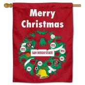 SDSU Aztecs Happy Holidays Banner Flag
