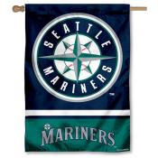 Seattle Mariners Double Sided House Flag