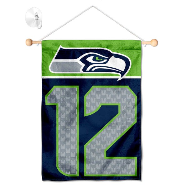 Seattle Seahawks 12th Man Window and Wall Banner