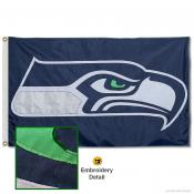 Seattle Seahawks Embroidered Nylon Flag