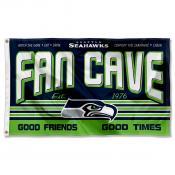 Seattle Seahawks Fan Cave Flag Large Banner