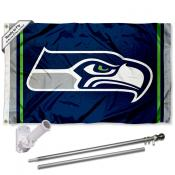 Seattle Seahawks Flag Pole and Bracket Kit
