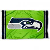 Seattle Seahawks Green Flag