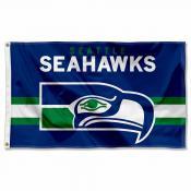Seattle Seahawks Throwback Retro Vintage Logo Flag