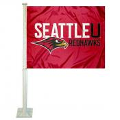 Seattle University Redhawks Car Window Flag