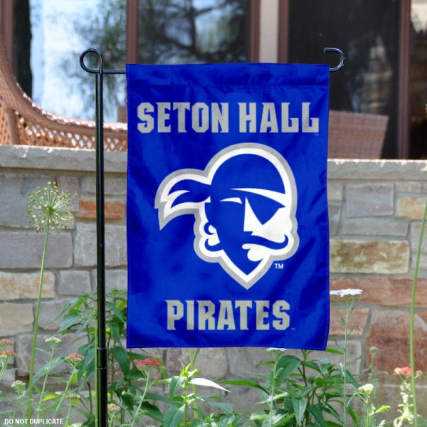 Seton Hall SHU Pirates Blue Garden Flag is 13x18 inches in size, is made of 2-layer polyester, screen printed Seton Hall Pirates athletic logos and lettering. Available with Same Day Express Shipping, Our Seton Hall SHU Pirates Blue Garden Flag is officially licensed and approved by Seton Hall Pirates and the NCAA.