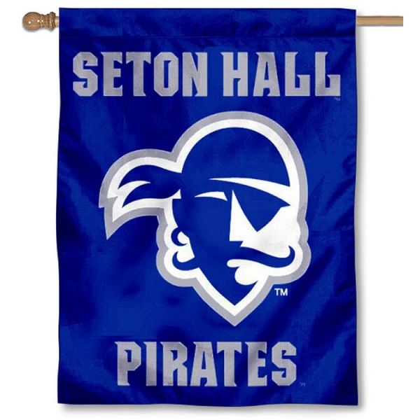 Seton Hall University Banner Flag is a vertical house flag which measures 30x40 inches, is made of 2 ply 100% polyester, offers dye sublimated NCAA team insignias, and has a top pole sleeve to hang vertically. Our Seton Hall University Banner Flag is officially licensed by the selected university and the NCAA.