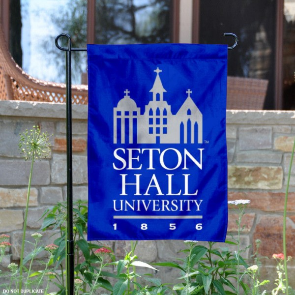 Seton Hall University Garden Flag is 13x18 inches in size, is made of 2-layer polyester, screen printed Seton Hall Pirates athletic logos and lettering. Available with Same Day Express Shipping, Our Seton Hall University Garden Flag is officially licensed and approved by Seton Hall Pirates and the NCAA.
