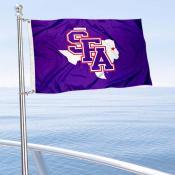 SFA Lumberjacks Boat and Mini Flag