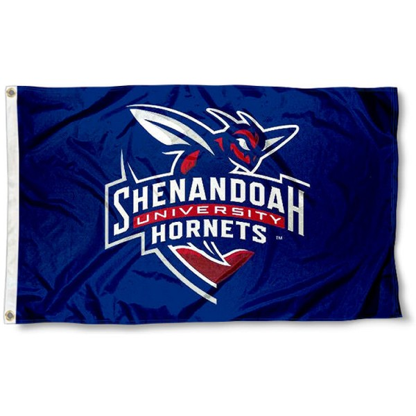Shenandoah Hornets Flag measures 3x5 feet, is made of 100% polyester, offers quadruple stitched flyends, has two metal grommets, and offers screen printed NCAA team logos and insignias. Our Shenandoah Hornets Flag is officially licensed by the selected university and NCAA.