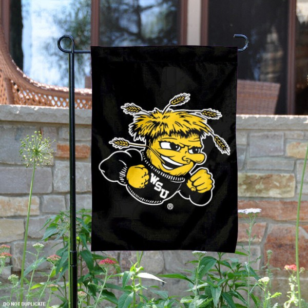 Shockers Garden Flag is 13x18 inches in size, is made of 2-layer polyester, screen printed Shockers athletic logos and lettering. Available with Same Day Express Shipping, Our Shockers Garden Flag is officially licensed and approved by Shockers and the NCAA.