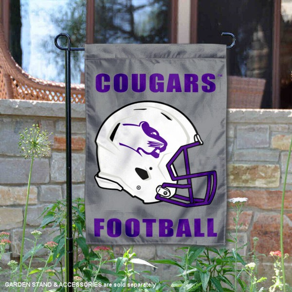 Sioux Falls Cougars Helmet Yard Garden Flag is 13x18 inches in size, is made of 2-layer polyester with Liner, screen printed university athletic logos and lettering, and is readable and viewable correctly on both sides. Available same day shipping, our Sioux Falls Cougars Helmet Yard Garden Flag is officially licensed and approved by the university and the NCAA.