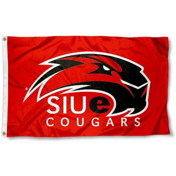 SIU Edwardsville Cougars Logo Flag measures 3'x5', is made of 100% poly, has quadruple stitched sewing, two metal grommets, and has double sided Team University logos. Our SIUE Cougars 3x5 Flag is officially licensed by the selected university and the NCAA.