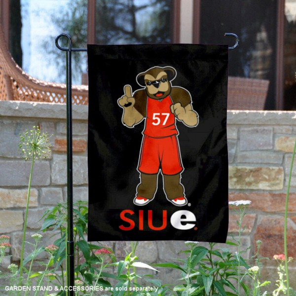 SIUE Cougars Eddie the Cougar Garden Flag is 13x18 inches in size, is made of 2-layer polyester, screen printed university athletic logos and lettering. Available with Same Day Express Shipping, our SIUE Cougars Eddie the Cougar Garden Flag is officially licensed and approved by the university and the NCAA.