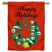 SIUE Cougars Happy Holidays Banner Flag