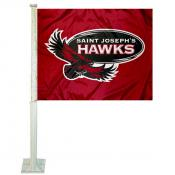 SJU Hawks Logo Car Flag