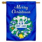 SLU Billikens Happy Holidays Banner Flag
