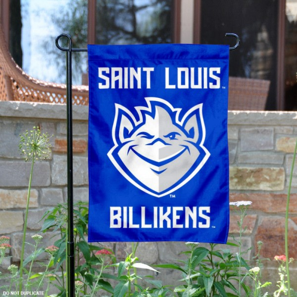 SLU Billikens New Logo Garden Flag is 13x18 inches in size, is made of 2-layer polyester, screen printed university athletic logos and lettering. Available with Same Day Express Shipping, our SLU Billikens New Logo Garden Flag is officially licensed and approved by the university and the NCAA.