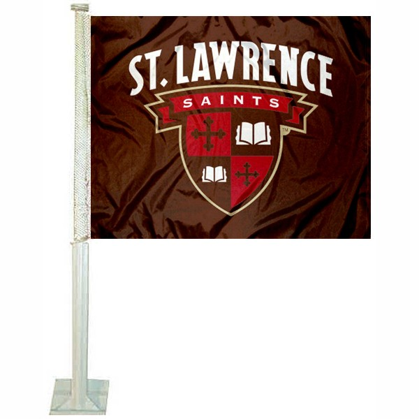 SLU Saints Car Flag measures 12x15 inches, is constructed of sturdy 2 ply polyester, and has screen printed school logos which are readable and viewable correctly on both sides. SLU Saints Car Flag is officially licensed by the NCAA and selected university.