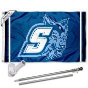 Sonoma State Seawolves Flag Pole and Bracket Kit