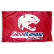 South Alabama Jaguars Red Outdoor Flag