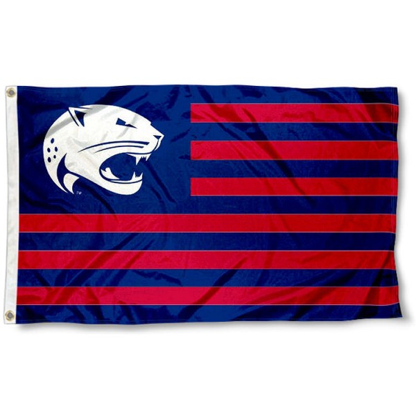 South Alabama Jaguars Stripes Flag measures 3'x5', is made of polyester, offers double stitched flyends for durability, has two metal grommets, and is viewable from both sides with a reverse image on the opposite side. Our South Alabama Jaguars Stripes Flag is officially licensed by the selected school university and the NCAA.