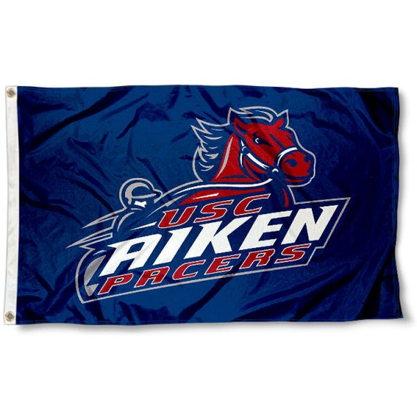 South Carolina Aiken Pacers Flag measures 3'x5', is made of 100% poly, has quadruple stitched sewing, two metal grommets, and has double sided Team University logos. Our USC Aiken Pacers 3x5 Flag is officially licensed by the selected university and the NCAA.