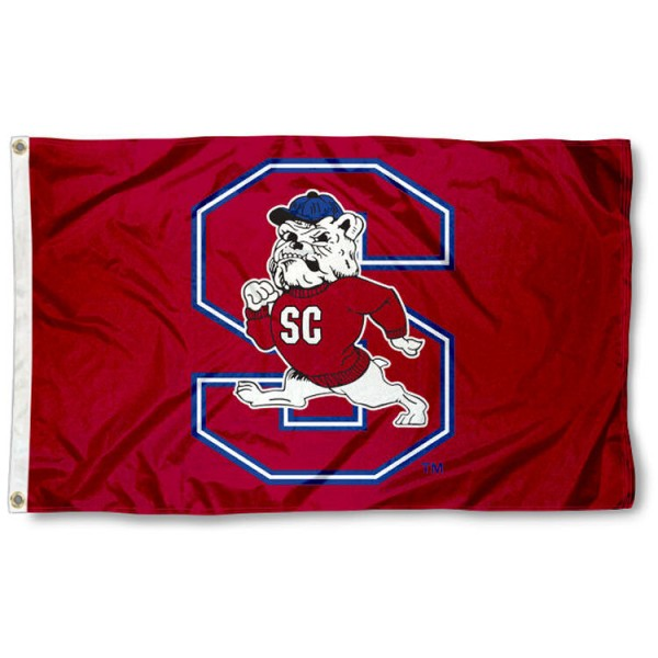South Carolina State Bulldogs Flag is made of 100% nylon, offers quad stitched flyends, measures 3x5 feet, has two metal grommets, and is viewable from both side with the opposite side being a reverse image. Our South Carolina State Bulldogs Flag is officially licensed by the selected college and NCAA
