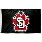 South Dakota Coyotes Black Flag