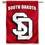 South Dakota Coyotes Double Logo Flag