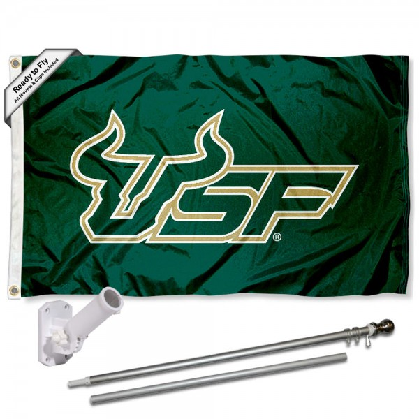 South Florida Bulls Flag Pole and Bracket Kit