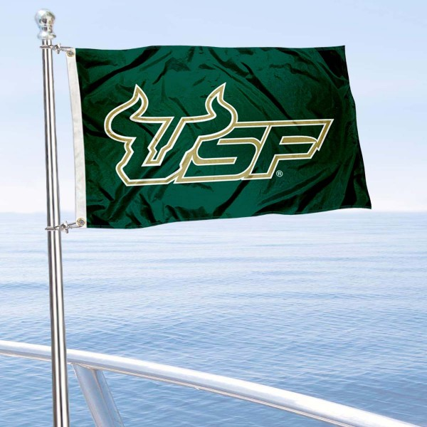 South Florida Bulls Golf Cart Flag is a small 12x18 inches, made of 2-ply polyester with quad stitched flyends, and is double-sided. Our Golf Cart Logo Flags are Officially Licensed and Approved by USF Bulls and NCAA.