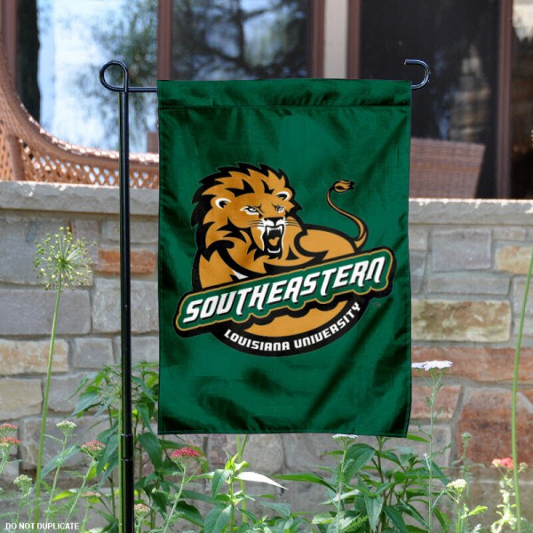 Southeastern Louisiana University Garden Flag is 13x18 inches in size, is made of 2-layer polyester, screen printed Southeastern Louisiana University athletic logos and lettering. Available with Same Day Express Shipping, Our Southeastern Louisiana University Garden Flag is officially licensed and approved by Southeastern Louisiana University and the NCAA.