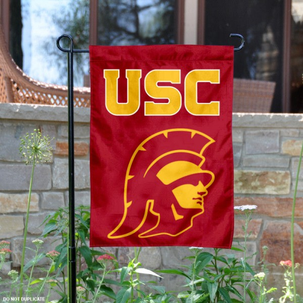 Southern Cal Trojans Garden Flag is 13x18 inches in size, is made of 2-layer polyester, screen printed logos and lettering. Available with Same Day Express Shipping, Our Southern Cal Trojans Garden Flag is officially licensed and approved by Panthers and the NCAA.