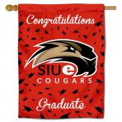 Southern Illinois Edwardsville Cougars Congratulations Graduate Flag