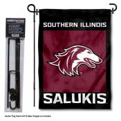 Southern Illinois Salukies Garden Flag and Pole Stand Mount